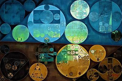 Forms Digital Art - Abstract Painting - Monte Carlo by Vitaliy Gladkiy