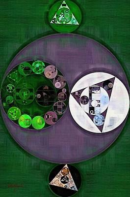 Phthalo Green Digital Art - Abstract Painting - Mulled Wine by Vitaliy Gladkiy