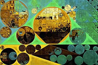Abstract Painting - Ocean Green Print by Vitaliy Gladkiy