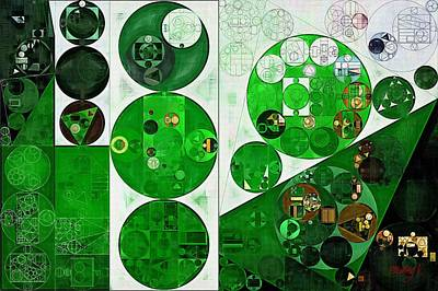 Phthalo Green Digital Art - Abstract Painting - Peppermint by Vitaliy Gladkiy