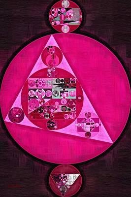 Feelings Digital Art - Abstract Painting - Persian Pink by Vitaliy Gladkiy