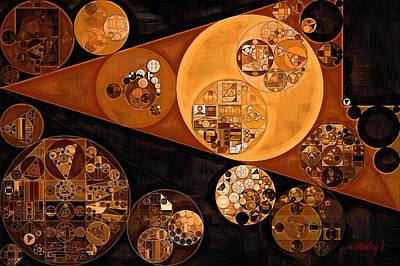 Abstract Painting - Saddle Brown Print by Vitaliy Gladkiy