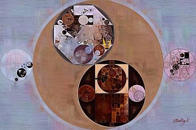 Beaver Digital Art - Abstract Painting - Seal Brown by Vitaliy Gladkiy