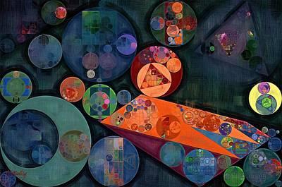 Circles Digital Art - Abstract Painting - Tango by Vitaliy Gladkiy