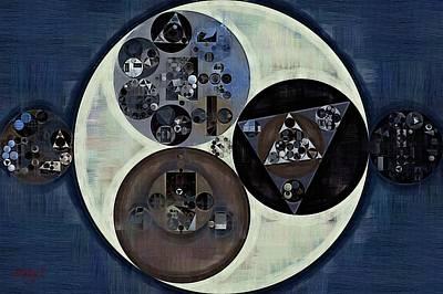 Abstract Forms Digital Art - Abstract Painting - Tasman by Vitaliy Gladkiy