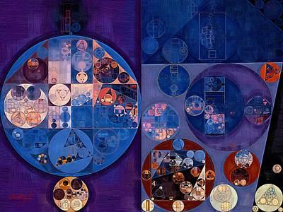 Abstract Painting - Tory Blue Print by Vitaliy Gladkiy