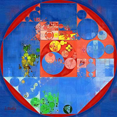 Abstract Painting - United Nations Blue Print by Vitaliy Gladkiy
