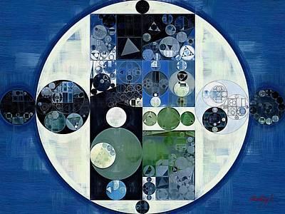 Round Digital Art - Abstract Painting - Venice Blue by Vitaliy Gladkiy