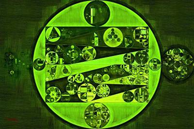 Abstract Painting - Verdun Green Print by Vitaliy Gladkiy