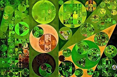 Wattle Digital Art - Abstract Painting - Wattle by Vitaliy Gladkiy