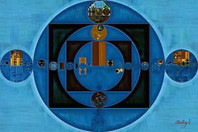 Abstract Painting - Yale Blue Print by Vitaliy Gladkiy