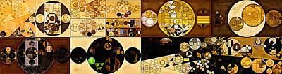 Rectangles Digital Art - Abstract Painting - Zinnwaldite Brown by Vitaliy Gladkiy