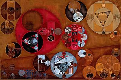 Burnt Umber Digital Art - Abstract Painting - Zorba by Vitaliy Gladkiy