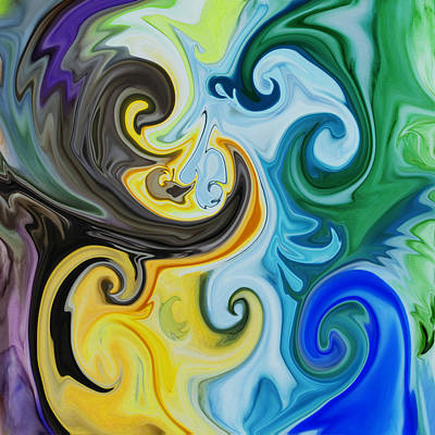 Abstract Painting - Abstract Paisley By Irina Sztukowski by Irina Sztukowski