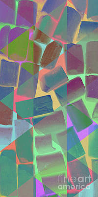 Abstract Pattern Chalks Print by Edward Fielding