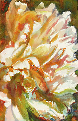 Abstract Peony Print by Mohamed Hirji