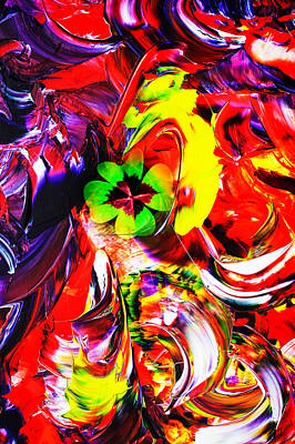 Abstract Perfection Good Luck Print by Walter Zettl
