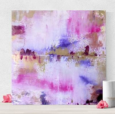 Abstract Art Painting - Abstract Pink Painting - Reflection 6 by Brittany Hagler