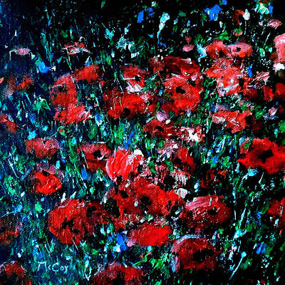 Painting - Abstract Poppies by K McCoy
