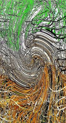 Digital Art - Abstract Reeds by Will Borden