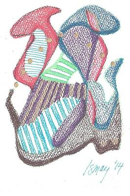 Drawing - Abstract by Rod Ismay