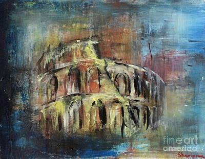 Ancient Civilization Drawing - Abstract Rome by Elmira Sharipova