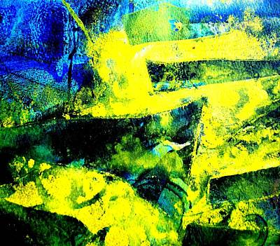 Elastic Mixed Media - Abstract Scape by John  Nolan
