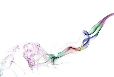Abstract Waves Photograph - Abstract Smoke by Setsiri Silapasuwanchai
