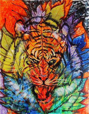 Abstract Spot The Tiger Original by Arun Sivaprasad