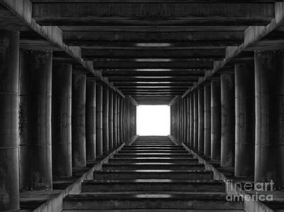 Abstract Tunnel With Light In The End Print by Caio Caldas