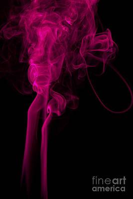Abstract Vertical Purple Mood Colored Smoke Wall Art 03 Print by Alexandra K
