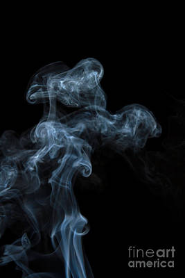 Abstract Vertical White Mood Colored Smoke Wall Art 04 Print by Alexandra K