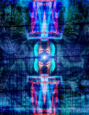 Spatial Digital Art - Abstract Vision by Wim Lanclus
