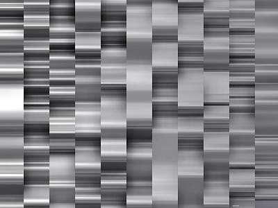 Illustration Digital Art - Abstract W-1 Black And White by Alberto  RuiZ