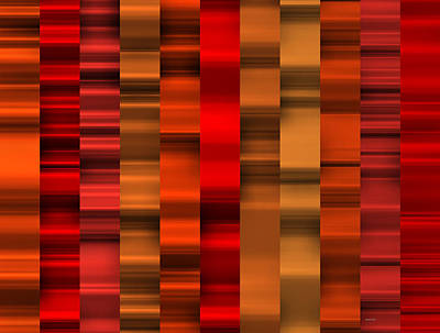 Illustration Digital Art - Abstract W-1 Red by Alberto  RuiZ