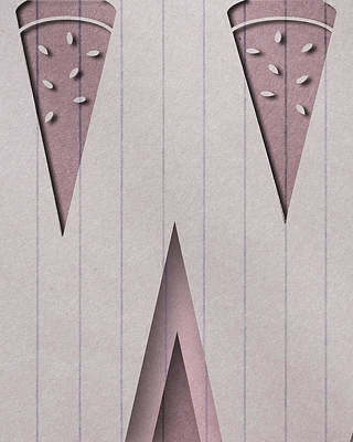 Watermelon Digital Art - Abstract W by Vanessa Bates