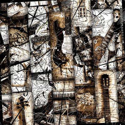 Abstracta 37 Musicum Mosaic Print by Gary Bodnar