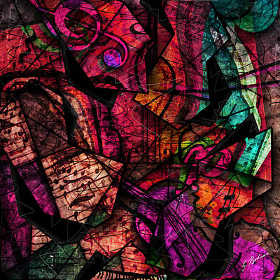 Abstracta_11 Cacophony In Z Minor Print by Gary Bodnar