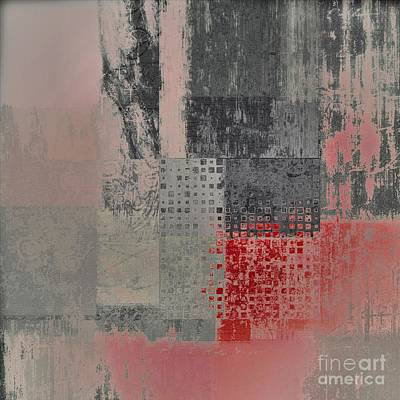 Red Abstract Digital Art - Abstractionnel by Variance Collections