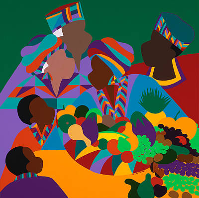 African American Painting - Abundance by Synthia SAINT JAMES