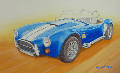 Cobra Painting - Ac Cobra Sports Car by David Godbolt