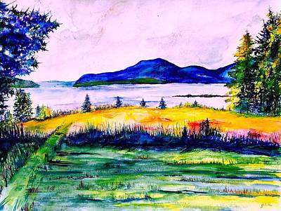 Maine Mountains Painting - Acadia Limited Edition by Julia S Powell