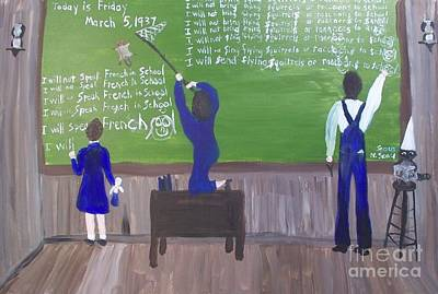 Gerry Painting - Acadiana Schoolroom In 1927 by Seaux-N-Seau Soileau