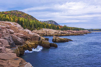 Maine Shore Photograph - Acadia's Coast by Chad Dutson