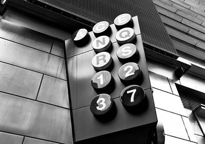 N.b.a Photograph - Acenqrs Line Mono by John Rizzuto
