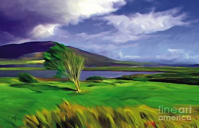 Mountain Mixed Media - Achill Island Ireland  Sunny by Bob Salo