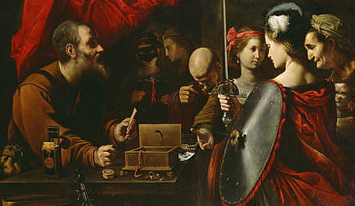 Lucca Painting - Achilles Among The Daughters Of Lycomedes by Pietro Paolini