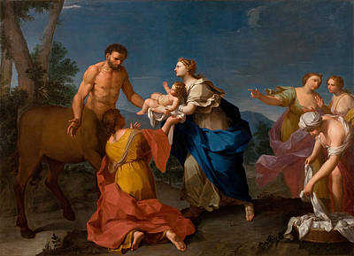 Achilles Painting - Achilles Assigned To The Centaur Chiron by Girolamo Donnini