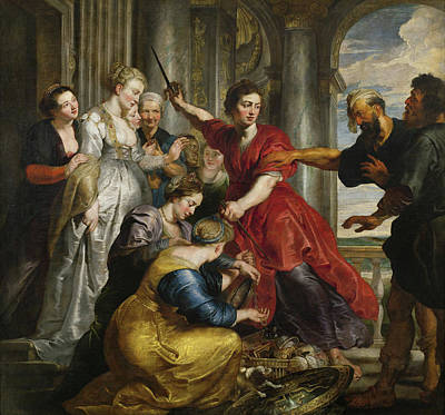 Hero Painting - Achilles Discovered By Ulysses And Diomedes by Peter Paul Rubens