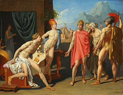 Jean-auguste-dominique Ingres Painting - Achilles Receiving The Envoys Of Agamemnon by Jean-Auguste-Dominique Ingres
